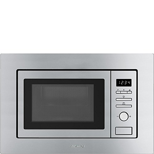 Smeg FMI017X Intégré – Micro-ondes (Intégré, Micro-ondes grill, 20 L, 800 W, boutons, Rotatif, Acier inoxydable)