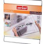 Zenker 7225 Grille de Cuisson Special Cooking Extensible 37-57×32,5 cm Argent, Acier Inoxydable, 57 x 32,5 x 1 cm