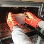 Gants de four , Gants de griffe de crabe Gants isolants anti-brûlure pour four à micro-ondes