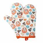 Gants de four résistants à la chaleur, une paire de gants de rôtissoire à micro-ondes résistants pour la cuisine antidérapants