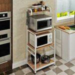 ShiSyan Micro-Ondes Holder 23.6″ Cuisine Utility Storage Outil 4 Couche Support de Rangement Table de Travail Stand Up Multi Couche Grille de Four (Couleur: Beige, Taille: 60CM * 40cm * 150cm)
