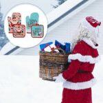 UPKOCH 2 Ensembles de Gants de Four Et de Maniques de Noël Gants pour Micro-Ondes Résistant à La Chaleur Griller BBQ Mitten Protège-Main Père Noël Motif Elk