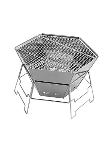 YNLRY Grille de barbecue portable en acier inoxydable pour extérieur et ménage (couleur : 1, taille : 57 x 47 x 60)