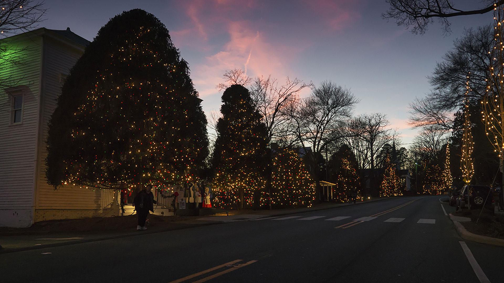 Christmas lights in McAdenville, North Carolina 295478475-159532