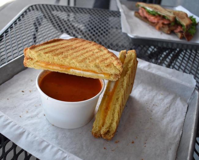 Grilled Cheese and Tomato Soup at The Old Spot by Lindy's on Fourth Avenue in Tucson, AZ.