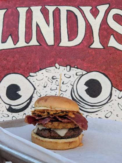 March Burger of the Month at Lindy's on 4th. Photo credit: Lindy's on 4th Facebook.