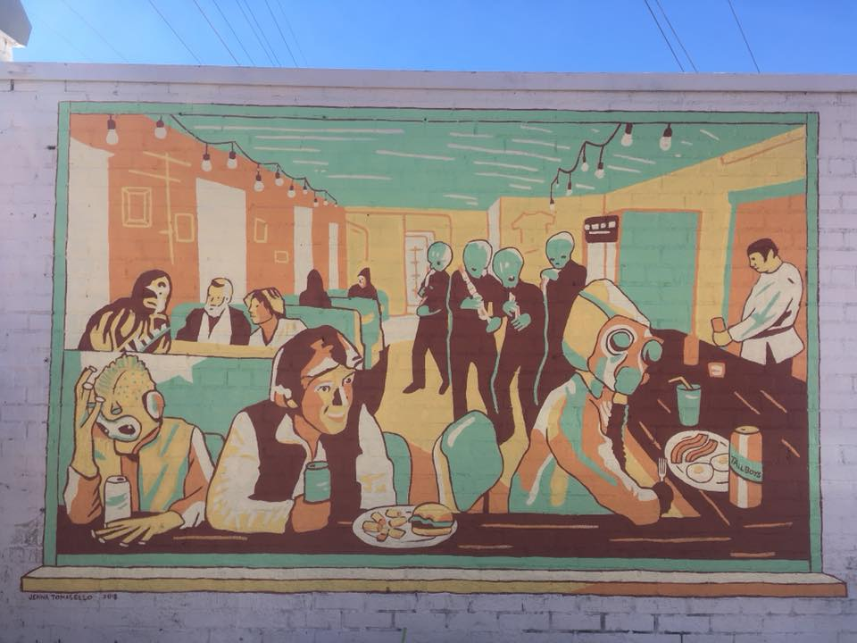 The new mural in front of Tallboys. Photo courtesy of Tallboys.