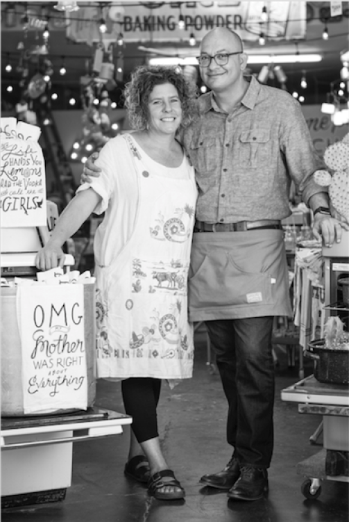 Nicole and Johnny Carillo. Owners of Mabel's on 4th and Rosie's Barket.
