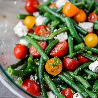 green bean and feta salad