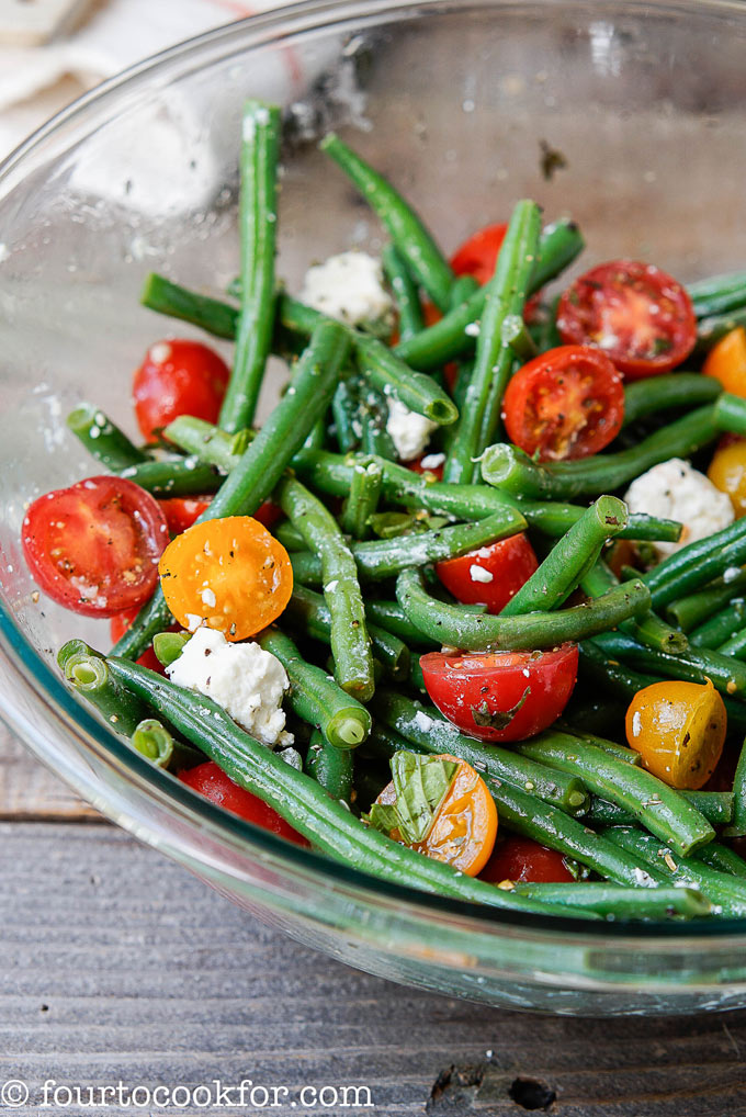 green bean and feta salad