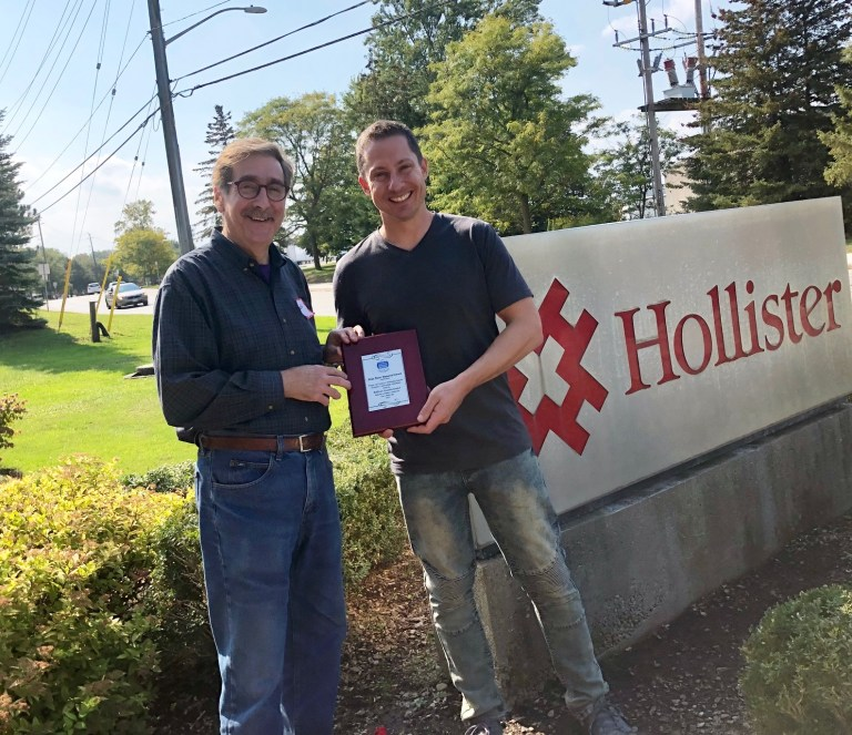 Allan Porter award to Hollister