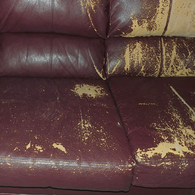 pu leather sofa repair best reclining for bad back a look at the bi cast controversy fow blog bonded peeling