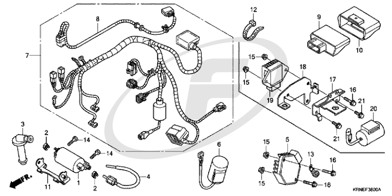Honda CRF250R 2011 WIRE HARNESS supplied next day (UK only