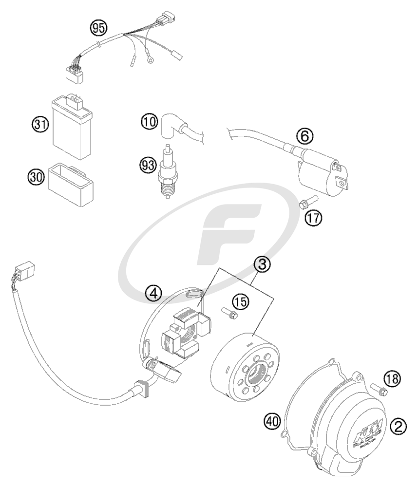 Ktm 105 Sx Stator Parts Diagram. Engine. Auto Parts
