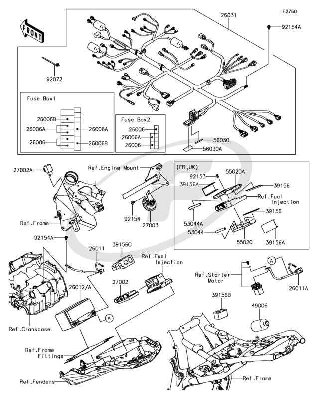 Kawasaki Z800 ABS 2013 Chassis Electrical Equipment