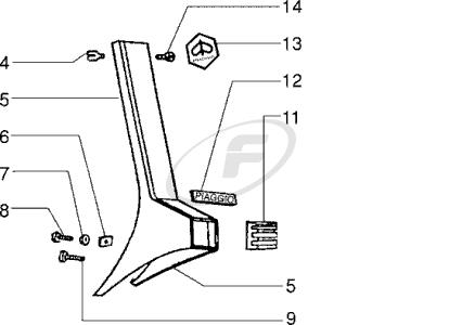 Vespa VESPA PX 200 E (CHASSIS NUMBER PREFIX: VSX1T