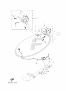 Yamaha GPD125A NMAX 2015 HANDLE SWITCH & LEVER supplied