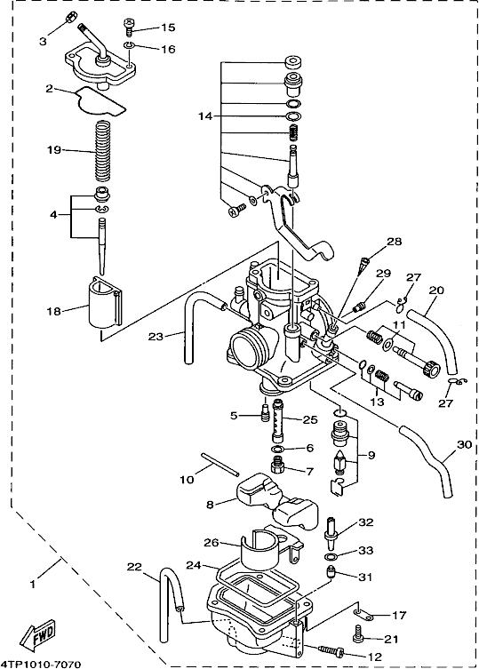 Yamaha DT230 LANZA (4TP1, 1997) 010 B > CARBURETTOR