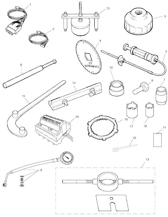 Triumph rocket iii, classic & roadster Service Tools