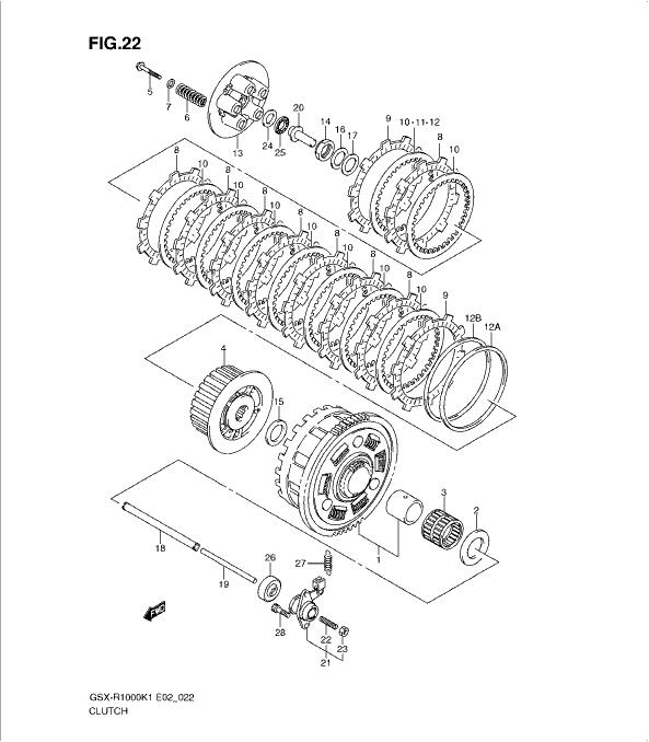 Suzuki GSX-R1000 K1-K2 (01-02) 2001-2002 CLUTCH supplied