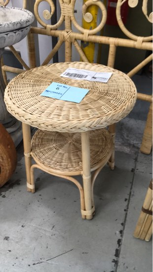 small round wicker coffee table
