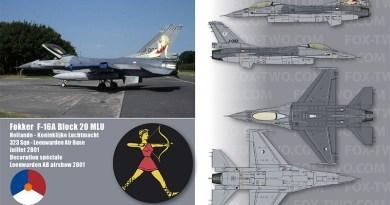 F-16A – J-002 – 323 Sqn – Hollande – Koninklijke Luchtmacht – 2001