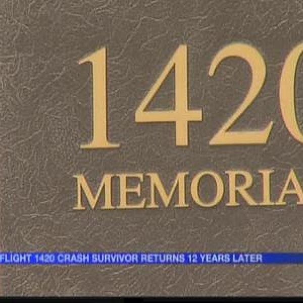 Flight 1420 crash survivor returns for first time_1973966921362198040