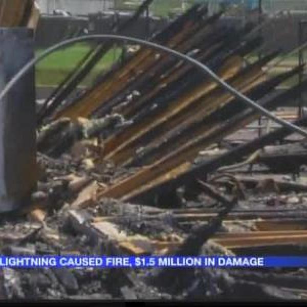 Lightning caused Bryant church fire_4670402805249624783