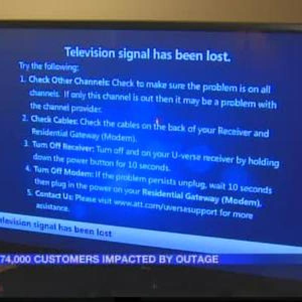 U-verse outage impacts _limited number of customers__2756082339456503173