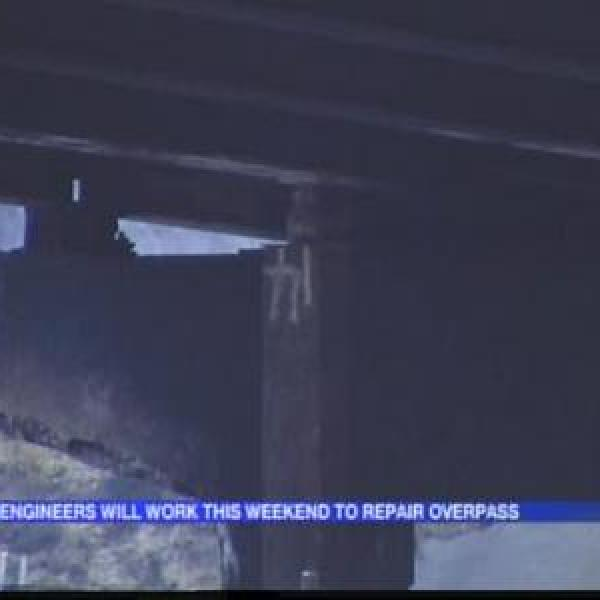 Young Overpass Damaged in Truck Crash_2180288560284388788