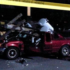 Pickup Crushed at Kroger_5062002809890227402