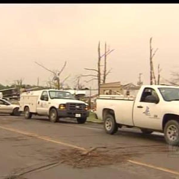 Tornado Damage in Mayflower_430384496609216620