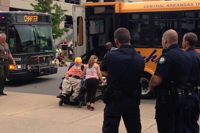 Disability Rights Advocates Arrested in Little Rock_4675615119207646588