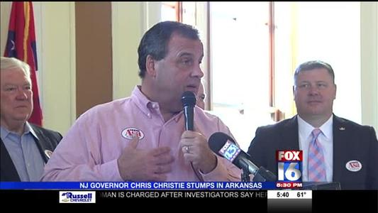 NJ Governor Chris Christie Stumps in Arkansas_9106346511352611119