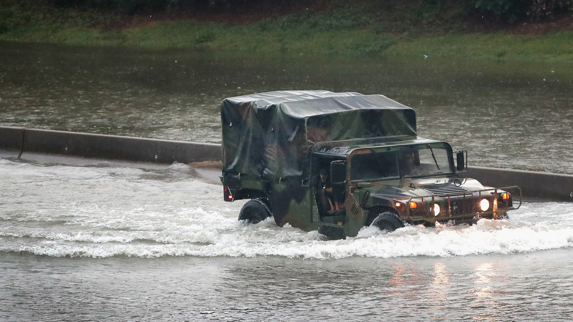Military truck in flooding, Hurricane Harvey13533008-159532