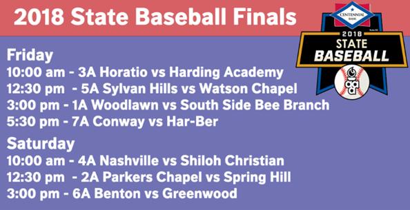 TV Schedule: State Baseball Championships
