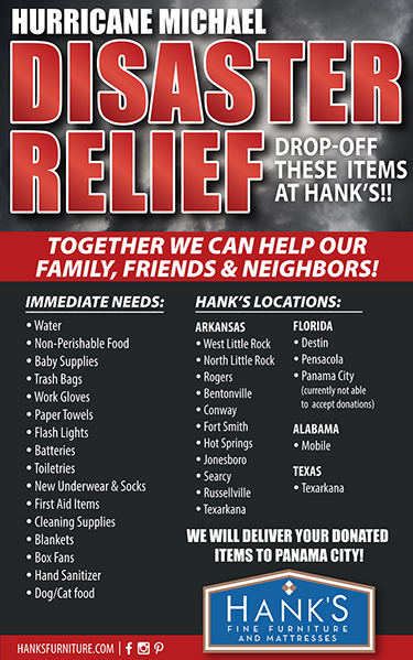 Hanku0027s Fine Furniture Collecting Donations For Hurricane Relief