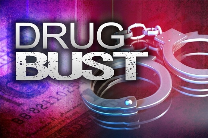 Drug Bust generic with handcuffs, money, police lights_4497505073472422511