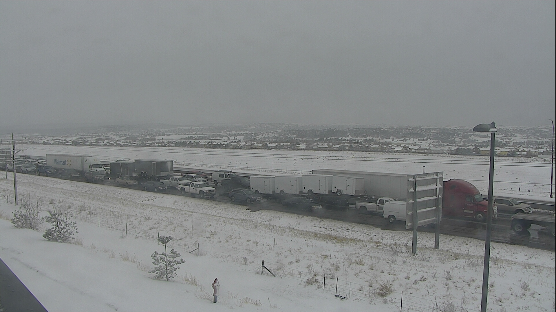 Dangerous roads snarl traffic on I-25 between Monument and