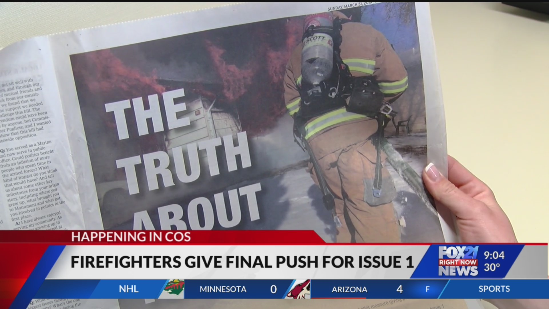 Firefighters give final push to issue one campaign