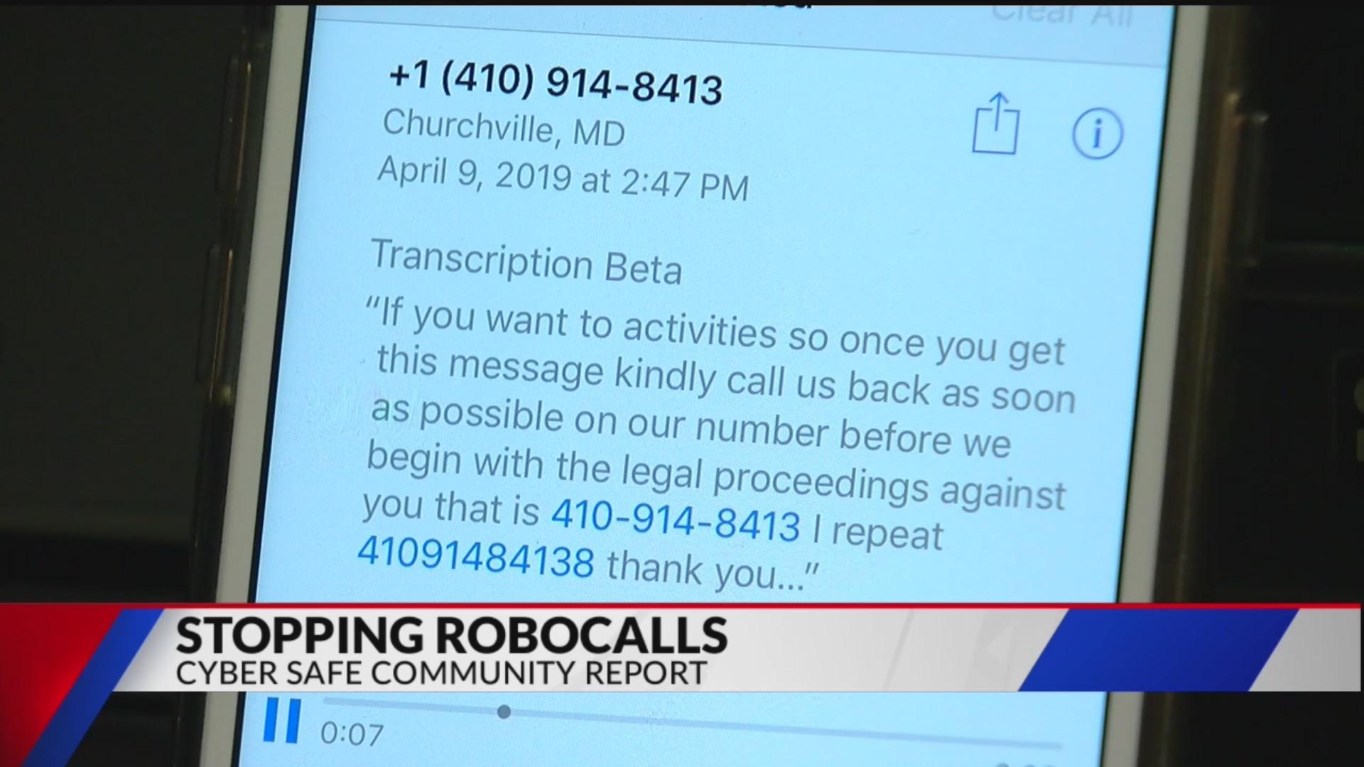 Cyber Safe Community Report: Robocalls
