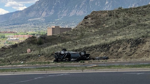 One person was killed in a rollover crash on southbound Union Boulevard just south of Monterey Road Monday morning. Kelly Helton - FOX21 News