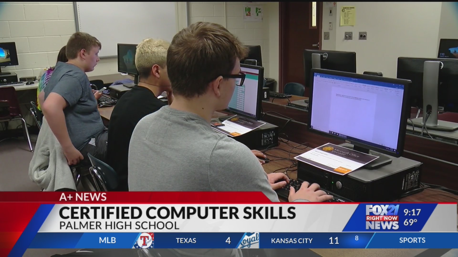 Palmer High School students work toward Office certifications