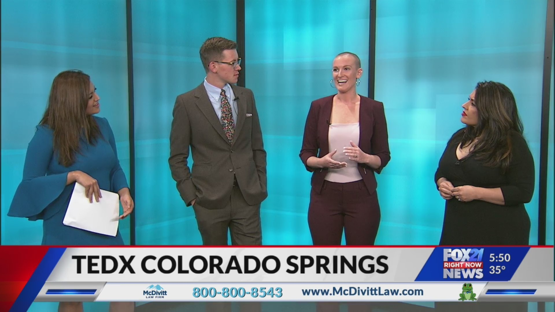 TEDxColoradoSprings on FOX21 Morning News Part 1