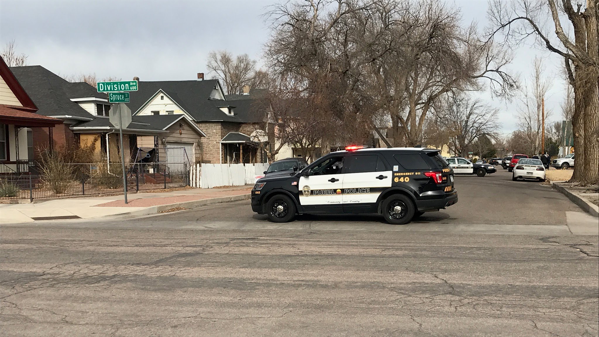 Police investigate a homicide in Pueblo Wednesday morning. / Mike Duran - FOX21 News
