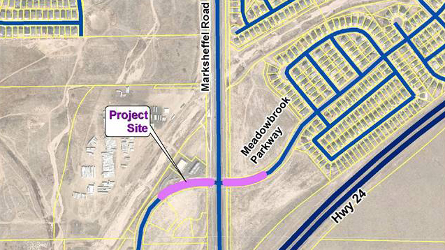 Map provided by El Paso County Public Works shows the intersection where crews will install a traffic signal Wednesday.