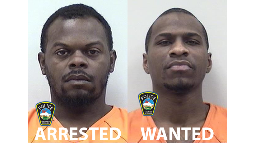 Isaac Phifer, who has been arrested, and Vershaun Allen, who is wanted. / Colorado Springs Police Department