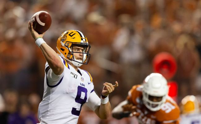 Joe Burrow Red Hot To Start 2019 With 9 Td Passes In 2 Games