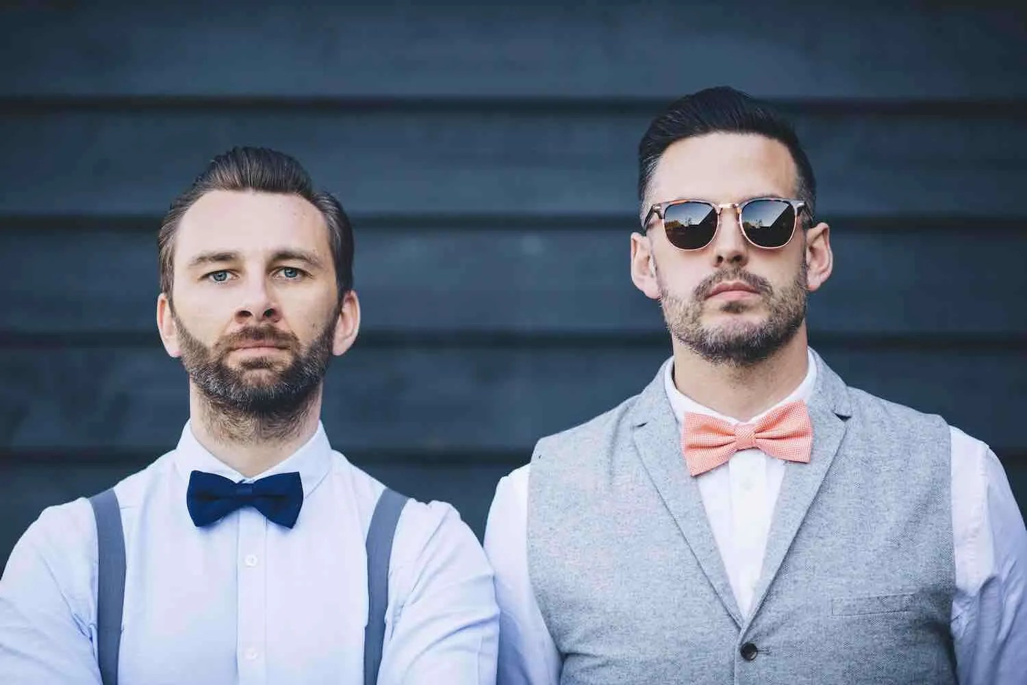 A picture of 2 stylish weddings djs