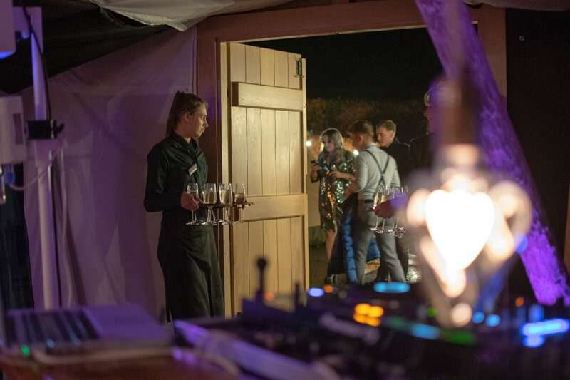 An amazing classy rustic dj booth